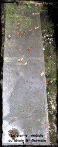 pierre tombale St Germain